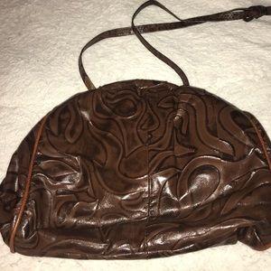 Interesting brown purse